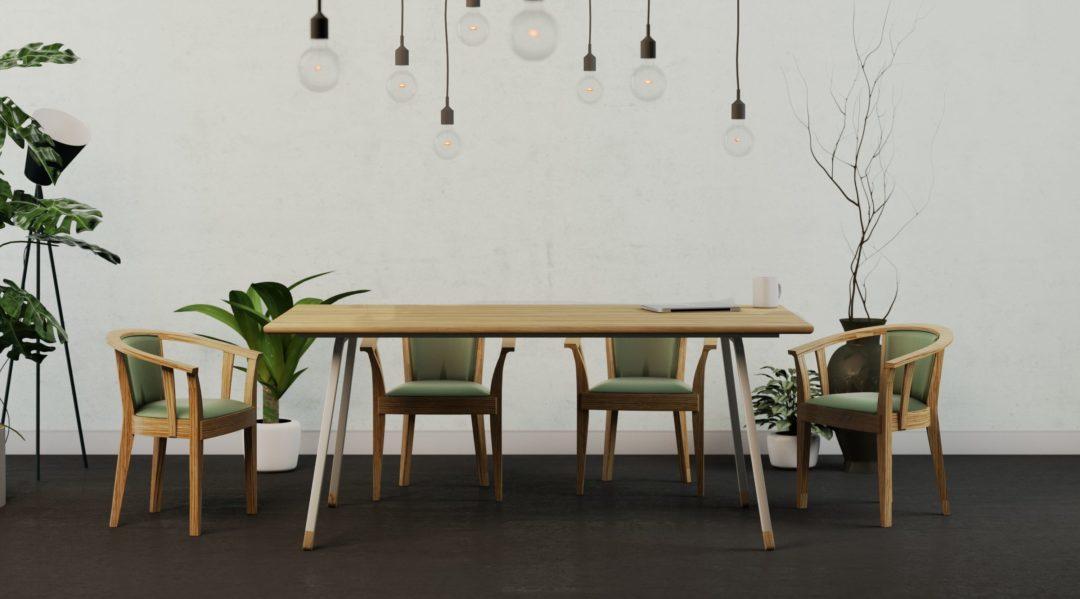 Skandynawski stół do jadalni
