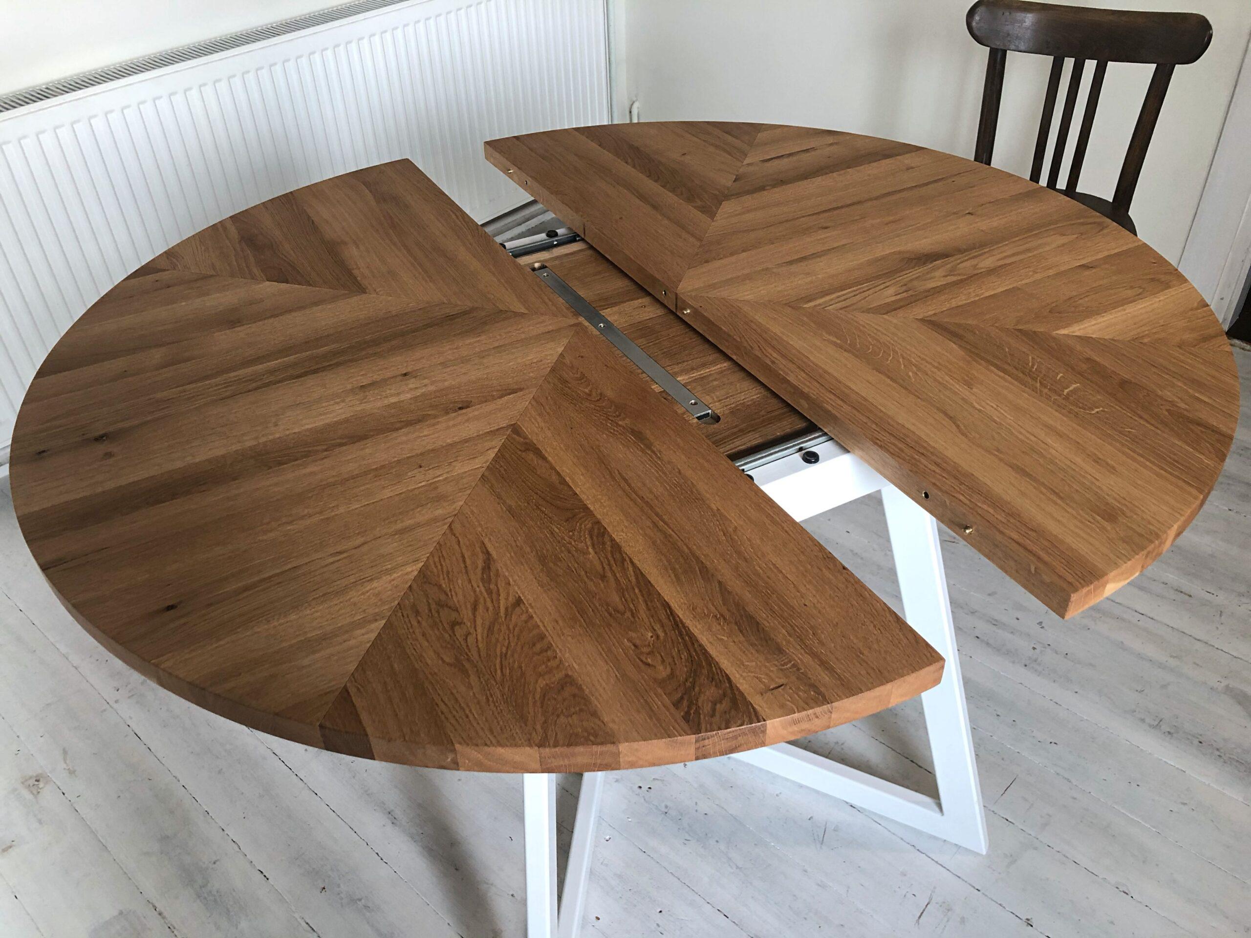 6 round oak table
