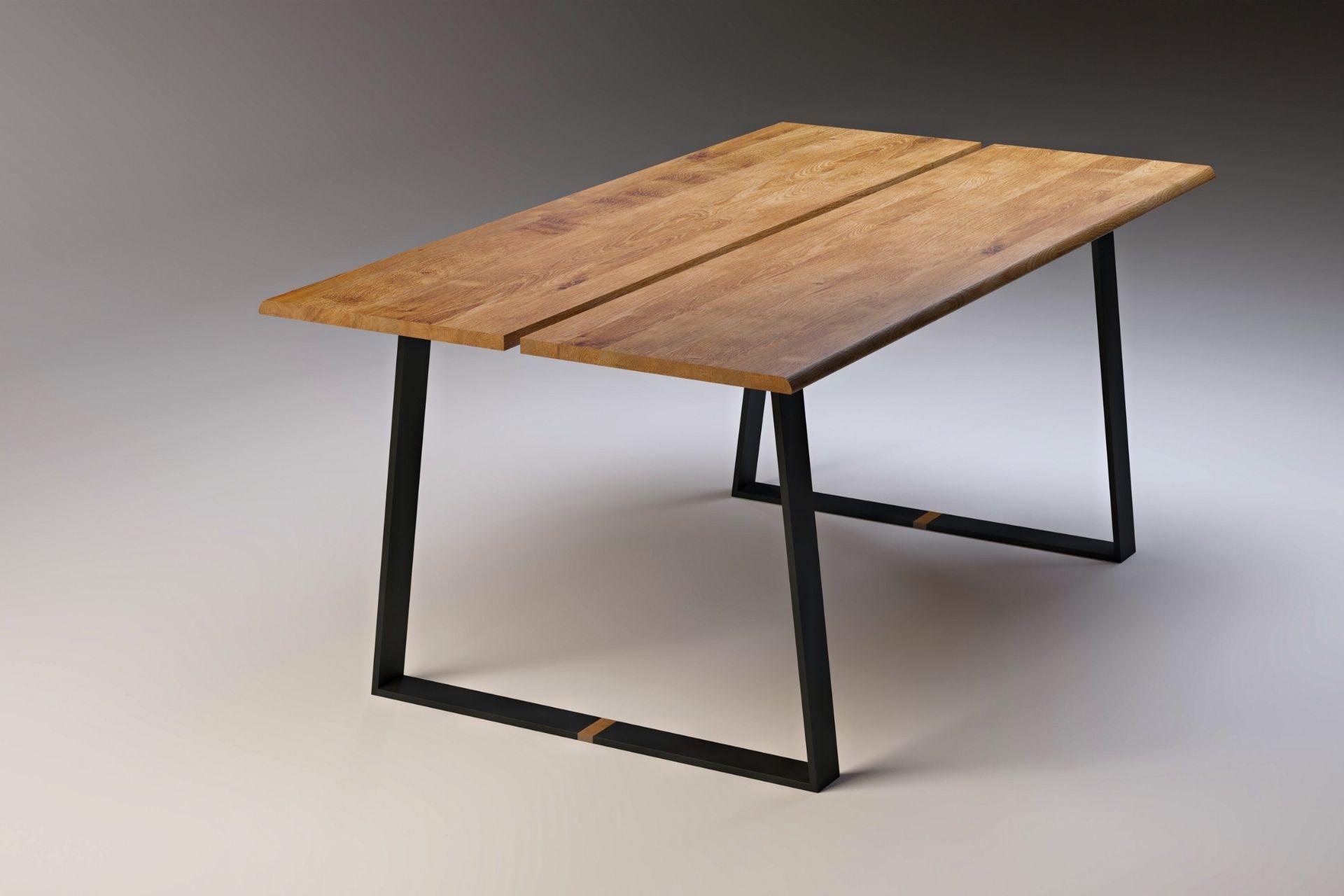 2_SLICE BLACK Moderner Esstisch aus Massivholz (schwarz